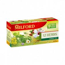 Чай Milford 12 трав 2,25 г 20 пак.