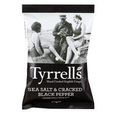 Чипсы TYRRELS с морской солью и черным перцем, 150 г