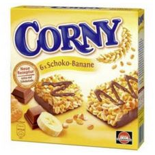 Батончики мюсли CORNY Банан-молочный шоколад, 6x25 г
