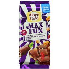 Шоколад ALPEN GOLD Max Fun Взрывная карамель, 160 гр.