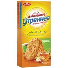 """Печенье """"Юбилейное утреннее"""" медовое с орехами 250 гр."""