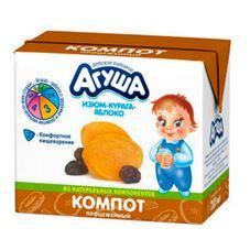 """Компот """"Агуша"""" Курага-изюм-яблоко 0,2 л, 15 шт./уп"""