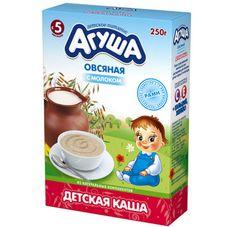 """Каша сухая молочная """"Агуша"""" Овсяная 13% 250 г, 10 кор./уп."""