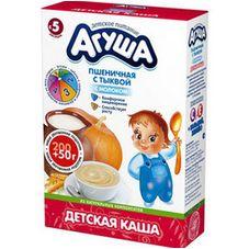 """Каша сухая молочная """"Агуша"""" Пшеничная с тыквой 9% 250 г, 10 кор./уп."""