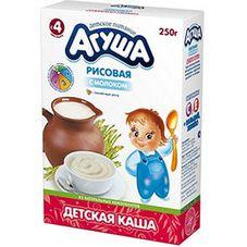 "Каша сухая молочная ""Агуша"" Рисовая 9,8% 250 гр, 10 кор./уп."