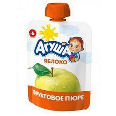 """Пюре фруктовое """"Агуша Я Сам"""" Яблоко 10 шт./уп."""