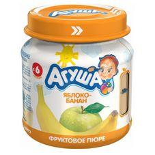 """Пюре фруктовое """"Агуша"""" Яблоко-банан 115 г, 12 ст.банок/уп."""