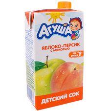 """Сок с мякотью """"Агуша"""" Яблоко-персик 0,5 л, 15 шт./уп."""