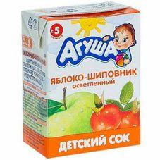 """Сок детский """"Агуша"""" Яблоко-шиповник 0,2 л, 27 шт./уп."""