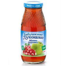 "Сок ""Бабушкино лукошко"" Яблоко-брусника 0,2 л, 6 ст.банок/уп."