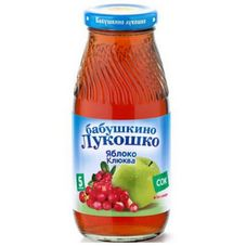 "Сок ""Бабушкино лукошко"" Яблоко-клюква 0,2 л, 6 ст.банок/уп."