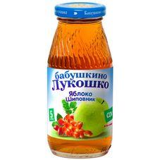 """Сок """"Бабушкино лукошко"""" Яблоко-шиповник 0,2 л, 6 ст.банок/уп."""