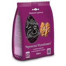 Конфеты Чернослив Михайлович с грецким орехом в шоколадной глазури, 500г
