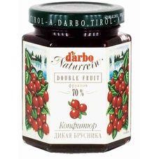 Конфитюр D'ARBO дикая брусника, 200г