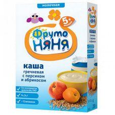 """Каша молочная """"Фрутоняня"""" Гречневая с персиком и абрикосом 200 г, 9 шт./уп."""