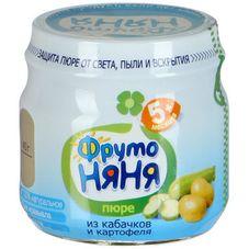 """Пюре """"Фрутоняня"""" Кабачок-Картофель 80 г, 12 б./уп"""
