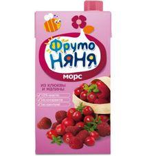 """Морс """"Фрутоняня"""" Клюква-малина 0,5 л, 25 шт./уп."""