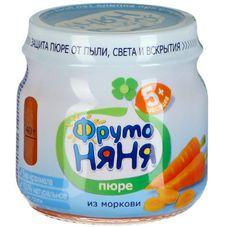 """Пюре """"Фрутоняня"""" Морковь 80 г, 12 б./уп."""