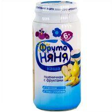 """Каша молочная """"Фрутоняня"""" Пшеничная с фруктами 250 г, 12 б./уп."""