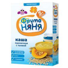 """Каша молочная """"Фрутоняня"""" Пшеничная с тыквой 200 г, 9 шт./уп."""