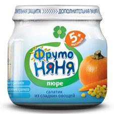 """Пюре """"Фрутоняня"""" Салатик из сладких овощей 80 г, 12 б./уп."""