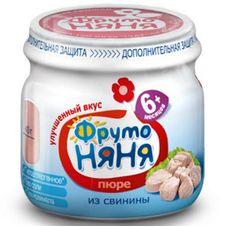 "Пюре ""Фрутоняня"" Свинина 80 г, 12 б./уп."