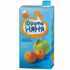 """Сок """"Фрутоняня"""" Яблоко-абрикос с мякотью 0,5 л, 25 шт./уп."""