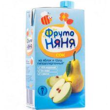 """Сок """"Фрутоняня"""" Яблоко-груша с мякотью 0,5 л, 25 шт./уп."""