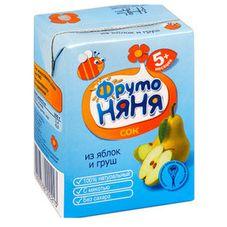 """Сок """"Фрутоняня"""" Яблоко-груша с мякотью 0,2 л, 27 шт./уп."""