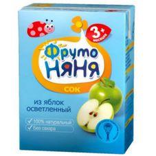 """Сок """"Фрутоняня"""" Яблоко осветленное 0,2 л, 27 шт./уп."""