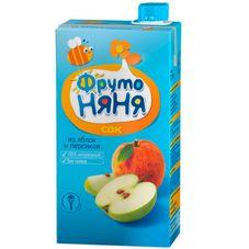 """Сок """"Фрутоняня"""" Яблоко-персик с мякотью 0,5 л, 25 шт./уп."""