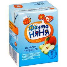 """Сок """"Фрутоняня"""" Яблоко-персик с мякотью 0,2 л, 27 шт./уп."""