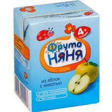 """Сок """"Фрутоняня"""" Яблоко с мякотью 0,2 л, 27 шт./уп."""