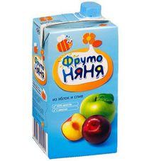 """Нектар """"Фрутоняня"""" Яблоко-слива с мякотью 0,5 л, 25 шт./уп."""
