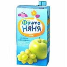 "Сок ""Фрутоняня"" Яблоко-виноград 0,5 л, 25 шт./уп."