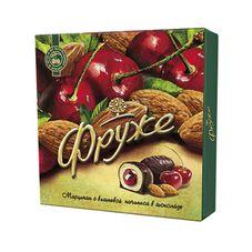 Конфеты Фруже Марципан с вишневой начинкой в шоколаде в коробке, 110 г
