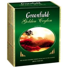 "Чай ""Greenfield  Golden Ceylon"" 100 пакетиков"