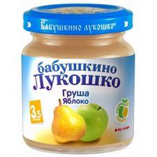 """Пюре Груша-яблоко """"Бабушкино лукошко"""" 100 г, 6 б./уп."""