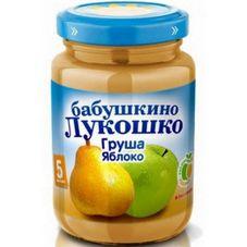 """Пюре Груша-яблоко """"Бабушкино лукошко"""" 200 г, 6 б./уп."""