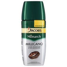 Кофе Jacobs Monarch Millicano молотый в растворимом, 190г