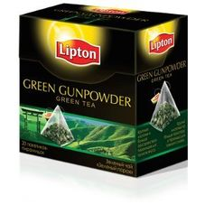 "Чай ""Lipton Green Gunpowder"" 20 пакетиков"