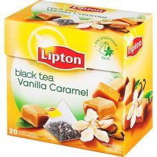 """Чай """"Lipton Vanilla Caramel""""  20 пакетиков"""