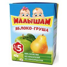 """Сок """"Малышам"""" Яблоко-Груша осветленный 0,2 л, 27 шт./уп"""