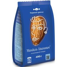 Конфеты Озерский сувенир Миндаль Иванович в шоколадной глазури, 400г