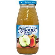 "Нектар ""Бабушкино лукошко"" Яблоко-персик 0,2 л, 6 ст.банок/уп."