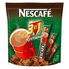 Кофе Nescafe 3 в 1 крепкий, 20 шт. в упаковке