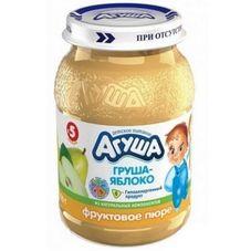 """Пюре фруктовое """"Агуша"""" Яблоко-груша 200 г, 8 ст.банок/уп."""