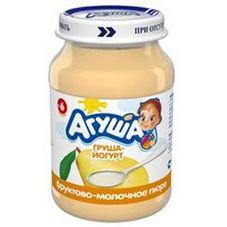 """Пюре фруктовое """"Агуша"""" Груша с йогуртом 200 г, 8 ст.банок/уп."""