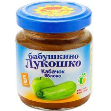 """Пюре Кабачок-яблоко """"Бабушкино лукошко"""" 100 г, 6 б./уп."""