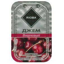 Джем порционный RIOBA вишня, 20 шт. в упаковке по 20г